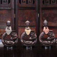 Ceramic Smoke Backflow Incense Burner Bullet Incense Cones Three Color