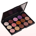 Professional 15 Earth Colors Eyeshadow Make Up Palette Nude Smoky eye shadow Kit Pigment Shimmer eye make up For Women cosmetic