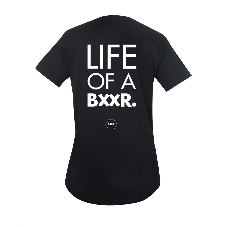 Round Round T Shirt Fashion 2016 to 100% NL luxury brand longer round-bottomed cotton back BXXR Fast Shipping