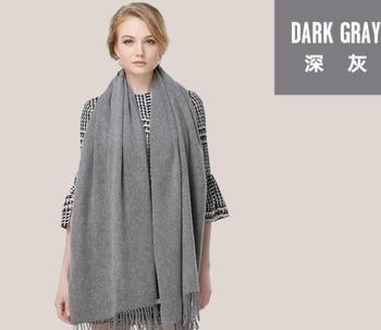 Pashmina Scarf Shawl Wool Cashmere blended Scarf Women Winter Scarfs Thick Dark Gray High Quality Natural Fabric Free Shipping