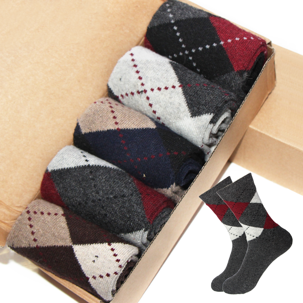 5pairs/lot Rabbit Wool Quality knitted Casual Men Socks Warm Breathable Cotton Socks Classic Business Dress Socks