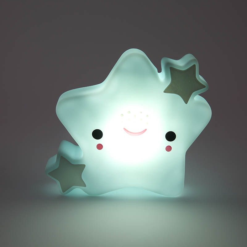 Gift Creative Adurable Novelty Star Night Light Kids Bedsibe Led Lamp For Children Baby Birthday Christmas Toy Gift Decoration