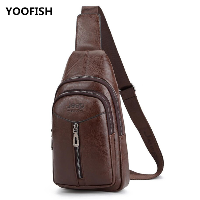 Free shipping Hot sale vintage PU shoulder body bag for men leisure chest bag multi functional outdoor sports travel bag XZ-103.