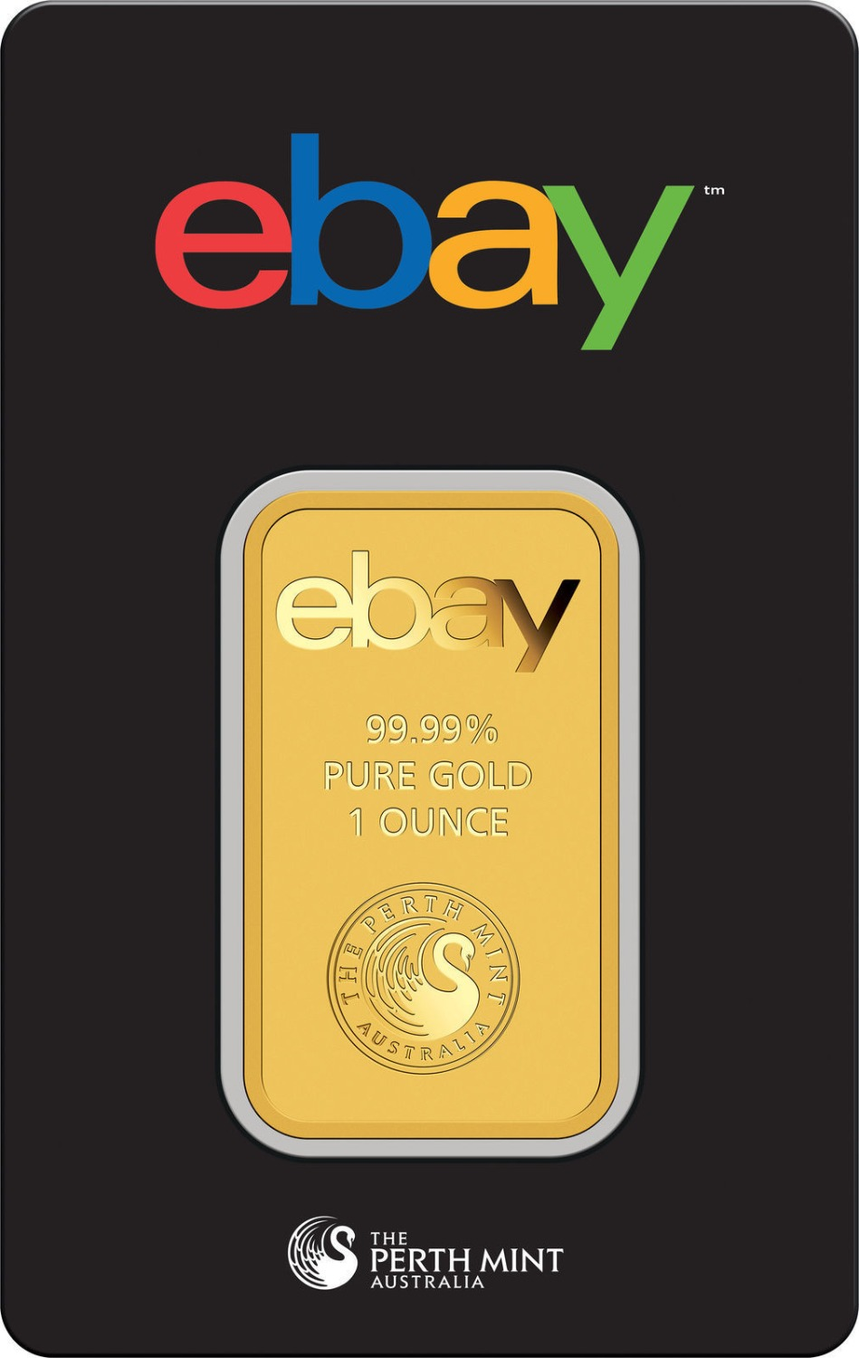 Ebay 99.99% Pure Gold 1 Ounce Plated Replica Bar , Brand New Free Shipping