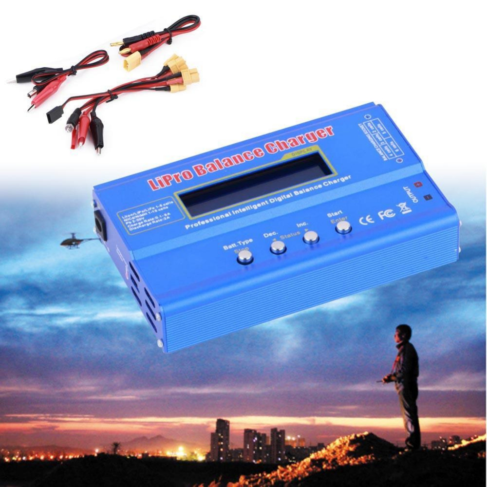 1x80 Вт Многофункциональный XT60 Plug NiMh Lipo Батарея Цифровой баланс Зарядное устройство Лидер продаж