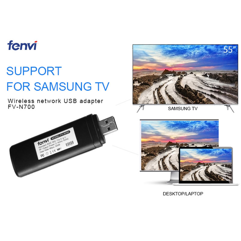 2.4/5Ghz 300Mbps LAN USB placa de Rede Sem Fio WLAN Cartão WiFi Dongle Adapter Receiver para Samsung Smart TV TV WIS09ABGN WIS12ABGNX