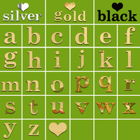 DIY creative 26 English letters small gold mirror stickers kids room baby room living room bedroom decorative Wall stickers N4