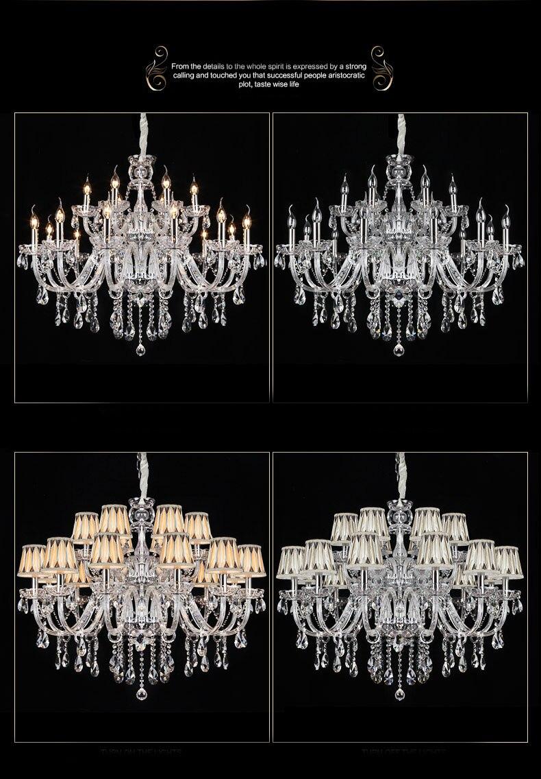 ջահ ՝ Crystal Modern Living Room lust sala de cristal modern - Ներքին լուսավորություն - Լուսանկար 6