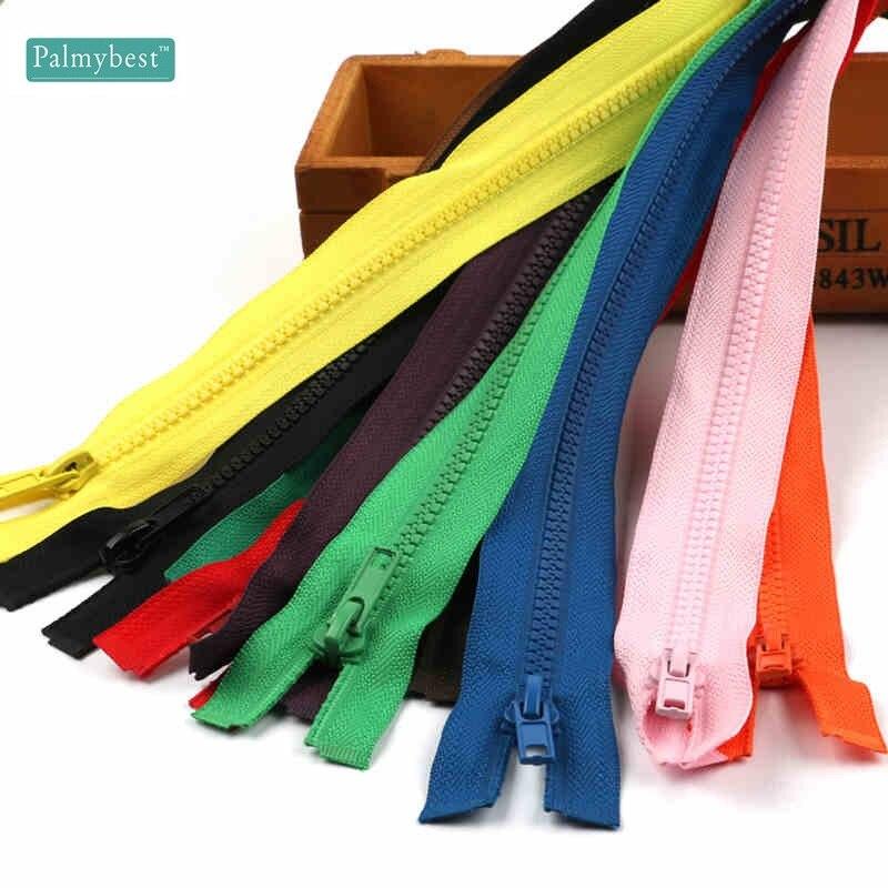 5 # Zippers Open End dragkedja 60cm 65cm 70cm Resin dragkedja för att sya kläder Långa dragkedja, 5st / lot