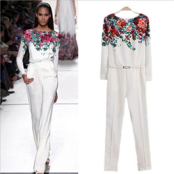 2014-New-Celeb-Style-Vintage-Women-White-Round-Neck-Long-Sleeve-Floral-Pattern-Slim-Jumpsuits-Fashion