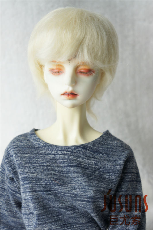 JD133  1/3 SD  mohair doll wig Boyish short cut BJD Wigs 8-9 inch Luts SD doll accessories