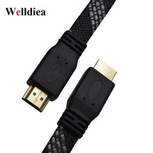 Welldiea HDMI Cable HDMI to HDMI 1.4/2.0 Cable 4K 3D for Xiaomi Projector Nintend Switch PS4 TV Box xbox 360 0.8m 1.5m 2m Cable(China)