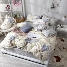 ParkShin Home Bedding Set Quilt Cover Set Decor Bedspread Double Fitted Sheet Elastic Band Corners Bedclothes Duvet Cover Set