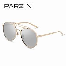 PARZIN Brand Big Frame Alloy Aviator Sunglasses For Women First Grade Quality Anti-UV400 Sunglasses Eyewear Accessories 9731 New
