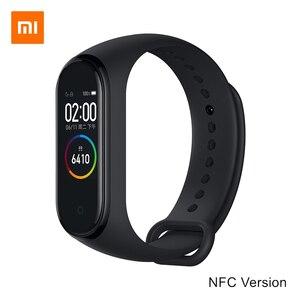 Image 2 - Xiao mi mi Smart Band 4 Bracelet NFC & Li mi ted Edition 0.95 pouces écran 5ATM étanche capteur de fréquence cardiaque mi band Bracelet mi Fit