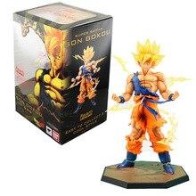 Nueva llegada Anime Dragon Ball Z Super Saiyan Goku acción Pvc figura de colección de juguetes mejor que envía libremente