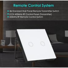 QIACHIP 86 Wall Panel Switch Remote Transmitter 433MHz RF Remote Control touch