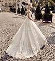 Nova Chegada Vestido De Noiva Laço Luxo Vestidos de Casamento 2017 Beading Sereia vestido de Noiva Romântico