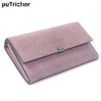 High Quality Women Long Wallets Letter Standard Hasp Money Purse Fashion Style Card Holder Synthetic Leather