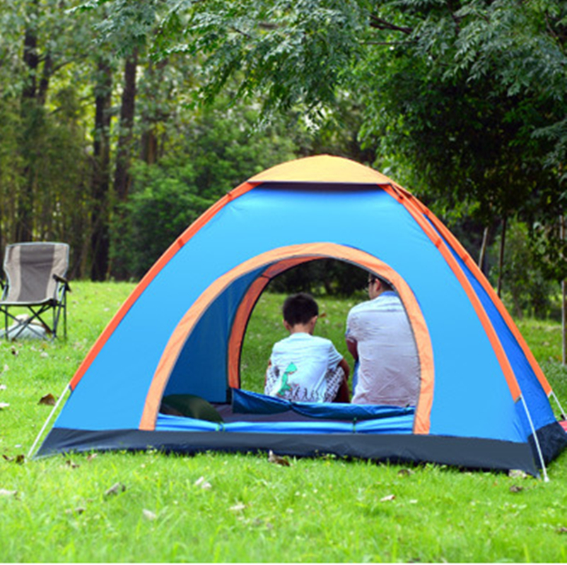 3-4 Person 200*200*135CM Camping Tent Automatic Ultralight Tent Waterproof Outdoor Climbing Fishing Tents Hiking outdoor camping hiking automatic camping tent 4person double layer family tent sun shelter gazebo beach tent awning tourist tent