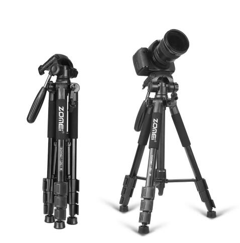 New Zomei Tripod Q111 Professional Portable Travel Aluminium Camera Tripod Accessories Stand with Pan Head for Canon Dslr Camera