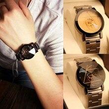 2018 мода звезды часы Для мужчин Элитный бренд часы Для женщин Любителя наручные часы Нержавеющаясталь Повседневное Творческий Relogio Feminino часы
