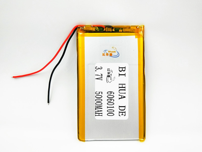 <font><b>3.7V</b></font> <font><b>5000mAh</b></font> 6060100 Polymer Lithium <font><b>LiPo</b></font> Rechargeable <font><b>Battery</b></font> For MP4 GPS PSP DVD PAD e-book tablet pc power bank Laptop mobile image