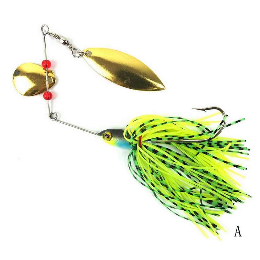 1Pcs19.5G Spinnerbait, plantilla de cebo de Metal, Spinner, cuchara, cebo bajo, lentejuelas, aparejos de pesca, señuelos pica wobbler, anzuelo de pesca de carpa