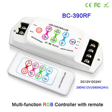BC-390 /BC-390RF DC12-24V/DC5-24V 8A/CH*3 Multi-function touch pannel controller key remote LED RGB strip Controller