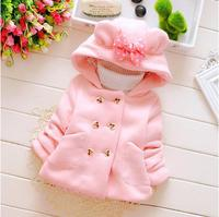 Cute Mouse Ear Hooded Girl S Coat Autumn Winter Thick Jacket Outwear Kid S Apparel Baby