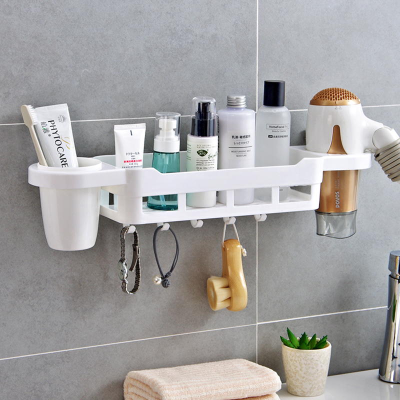 Bathroom shelves plastic makeup organizer box For Kitchen towel ...