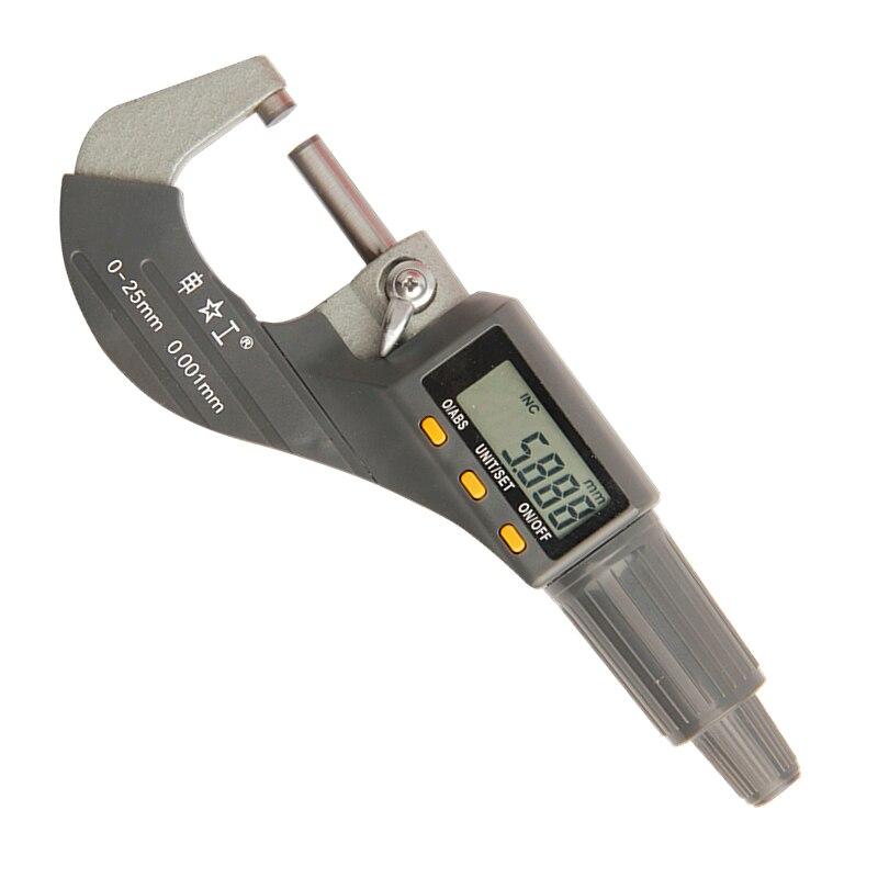 SHENGONG 0-25mm Micrometro Digitale 0.001mm Metrico/Pollici Fuori Micrometro Strumento di Misura Micrometro Elettronico Strumenti