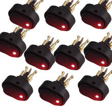 Soporte para EE. UU., 10 Uds., accesorios universales para coche, colores LED12V 30A, negro, resistente, apagado/encendido, interruptor de palanca basculante, venta