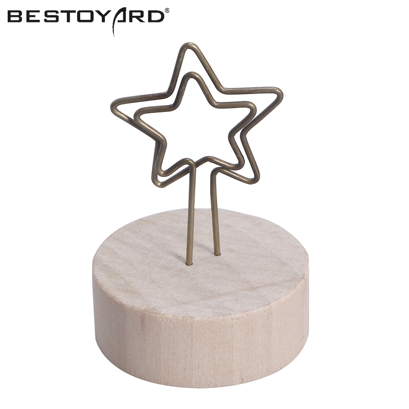 Festive & Party Supplies Spirited Wooden Base Photo Card Note Memo Holder Clip Wedding Table Numbers Decoration Craft Home Birthday Party Events Supplies Reliable Performance