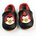 Nuevo Bebé de la Historieta Zapatos de princesa Arco de Cuero Genuino zapatos Mocasines Bebé Primer Caminante Bebe recién nacido Envío Libre