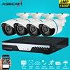 Super 4ch Full HD 1920p Surveillance Kit CCTV DVR Video Recorder AHD Outdoor Metal Bullet 3mp