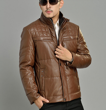 Thicken winter warm stand collar PU leather jacket high quality casual mens faux leather jackets and coats coat big size 4XL