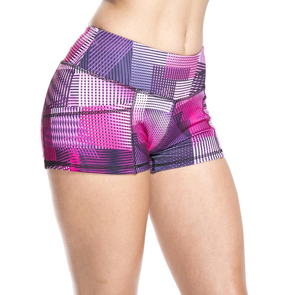 Summer Ladies Printed High Strength Quick Dry Sports Running Fitness Yoga Shorts Women's Leggings Mid Waist Sweatpants For Women