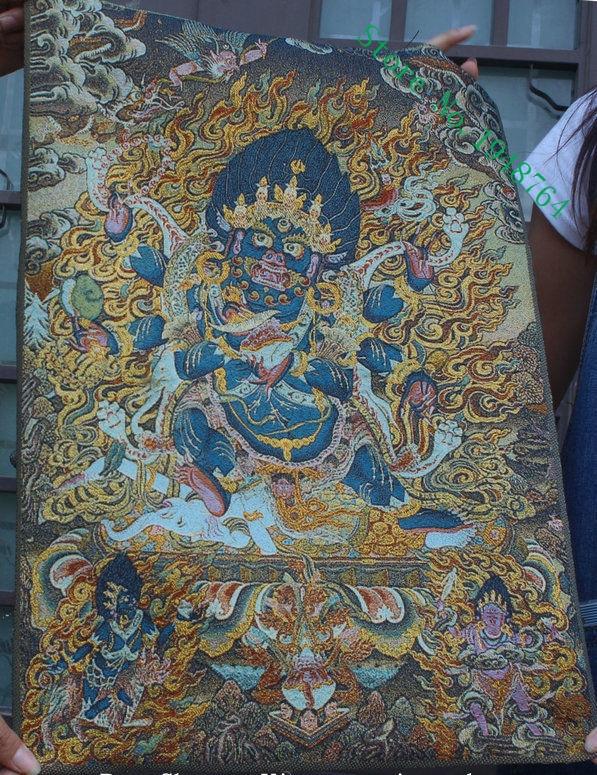 tibet buddhism Sutera sulaman thangka Raja Selatan dewa Exorcism tangka hiasan rumah