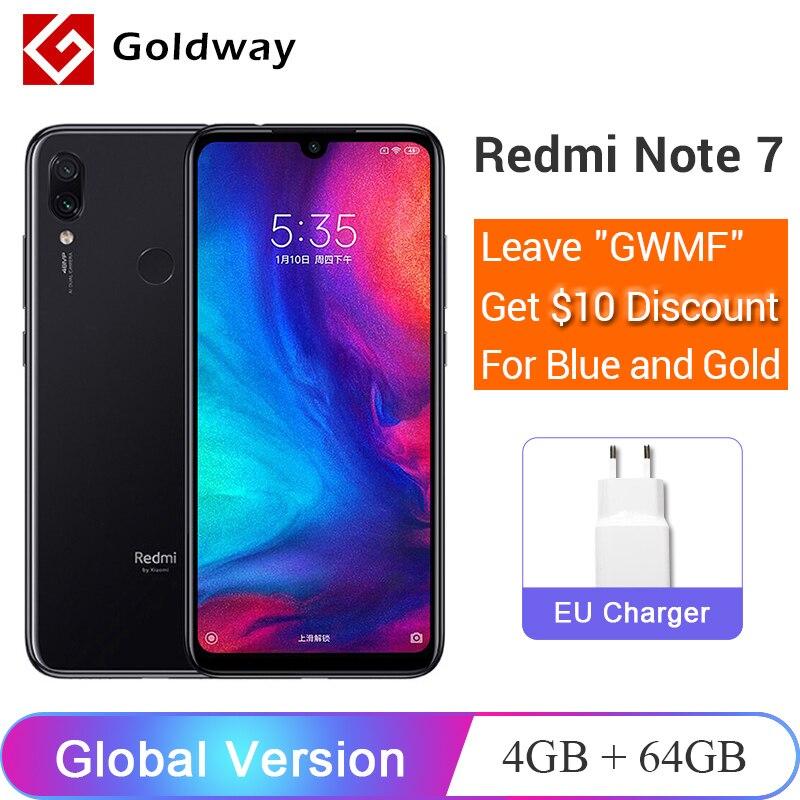 Global Version Xiaomi Redmi Note 7 4GB 64GB SmartPhone Snapdragon 660 Octa Core 48MP Dual Camera 6.3