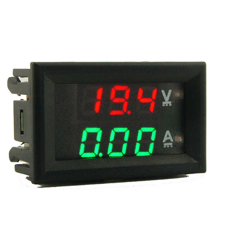 "DC 100V 10A  Mini Digital Voltmeter Ammeter Voltage Current Meter Tester 0.28"" Blue Red Dual LED Display"