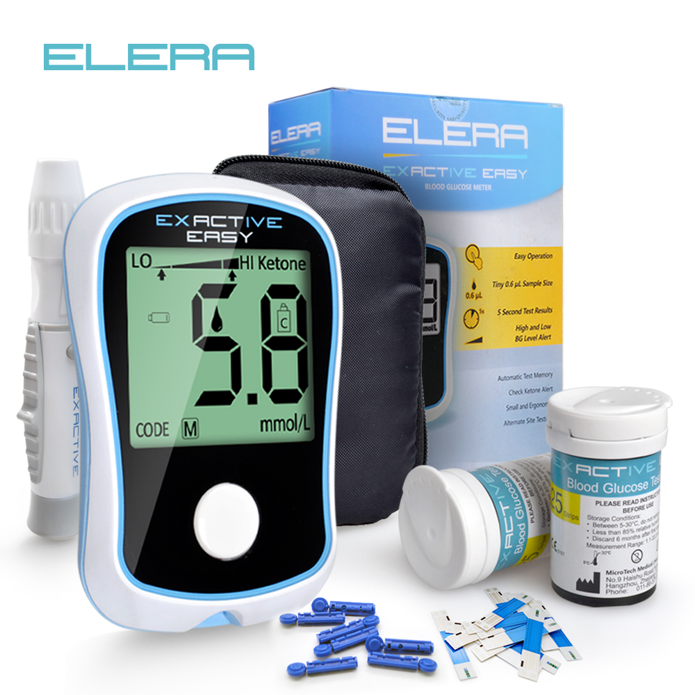 ELERA Blood Glucose Meter Medical Device For Measuring Blood Sugar Glucometer With Diabetic Test Strips For Diabetes Glucometro
