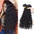"Peruvian Deep Wave Virgin Hair Peruvian Curly Hair 3 Bundle Deals Deep Wave Virgin Hair 8""-26"" Curly Weave Human Hair Bundles"