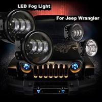 2X 4 Led Fog Lights For Jeep Wrangler JK Led Fog Lamps Projector Headlight For Jeep