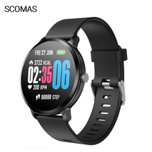 SCOMAS V11 Smart Watch 1.3IPS Tempered Glass Heart Rate Blood Pressure Oxygen Monitor Men Women Smartwatch For iOS Android