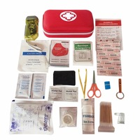 19 UNIDS Alta Calidad Recorrido Al Aire Libre de Primeros Auxilios kit de Coche ayuda En Casa Bolsa de Pequeño Tamaño Caja de Kit de Supervivencia de Emergencia Médica 21*13*5.5 CM