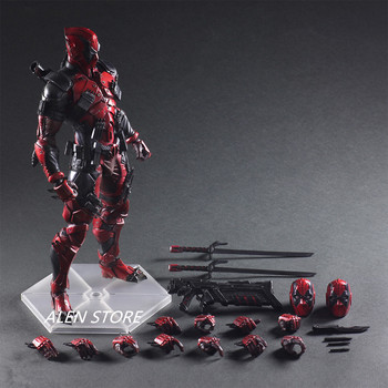 ALEN Play Arts  Marvel Character 26cm Deadpool Action Figure Model Toy Come with Retail Box