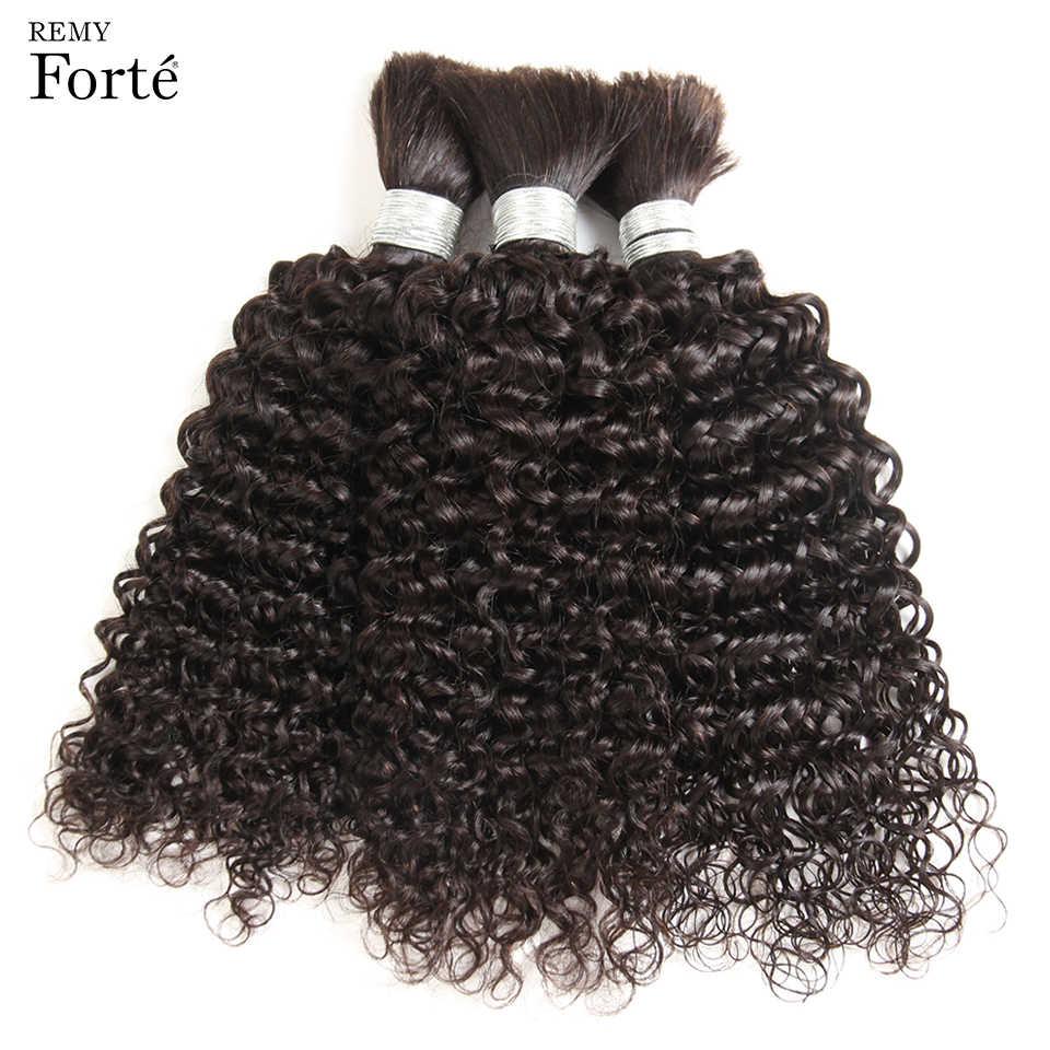 Remy forte 30 Polegada feixes de tecer cabelo brasileiro tranças em massa sem trama bundles negócio brasileiro encaracolado humano trança cabelo em massa das mulheres