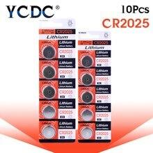 1489e6eb1 10 unids/pack CR2025 de botón de litio batería DL2025 BR2025 KCR2025  celular moneda pilas 3 V CR 2025 para ver juguete de contro.