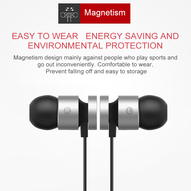 Magnetic headphone wireless earbuds ear stereo sports earphone Bluetooth headset for iPhone sony xiaomi bloototh fone de ouvido